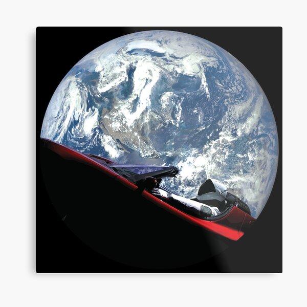 SpaceX Starman Metal Print