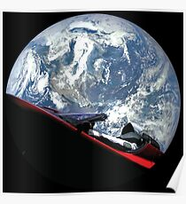 Póster SpaceX Starman
