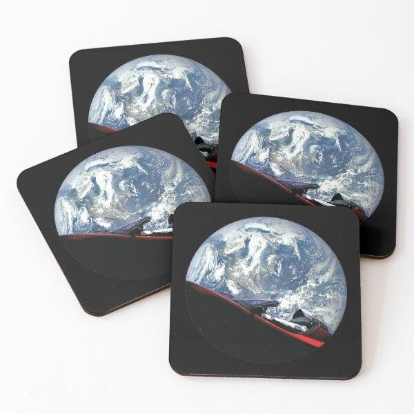 SpaceX Starman Coasters (Set of 4)