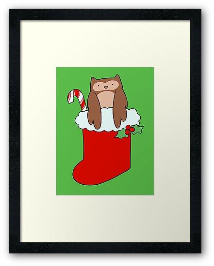 Christmas Stocking Owl by SaradaBoru
