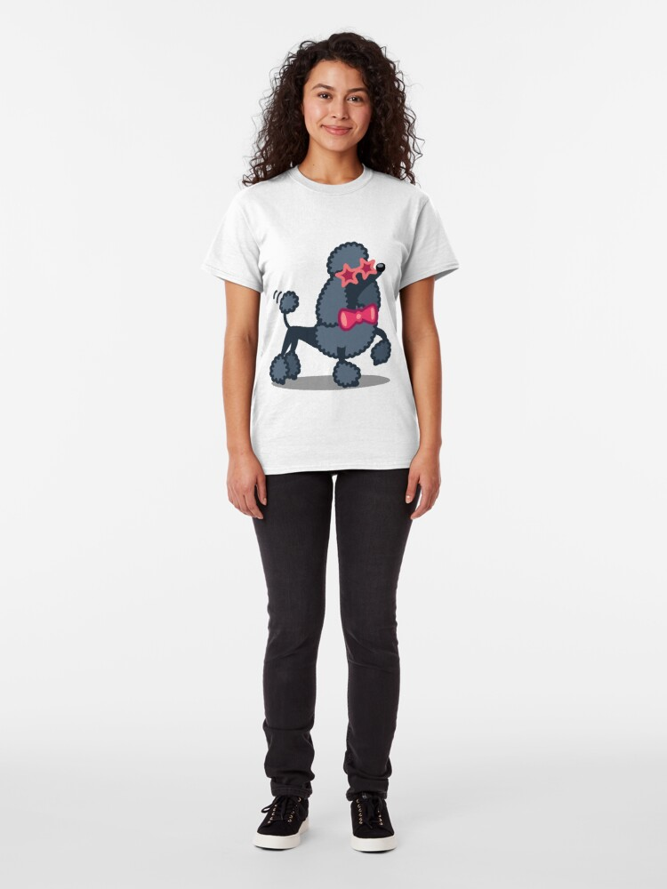 Alternate view of Funny Poodle Tshirt - Dog Gift Ideas for Toy Poodle and Miniature Poodle lovers Classic T-Shirt