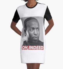 OH, INDEED Graphic T-Shirt Dress