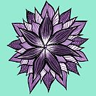 Purple Mandala Like Flower by Boriana Giormova
