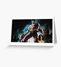 Ash from Army Of Darkness Painting Greeting Card