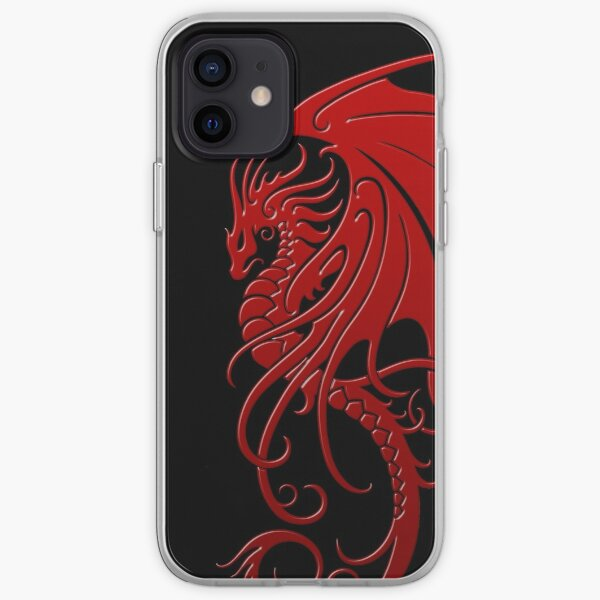 Flying Red Tribal Dragon iPhone Soft Case