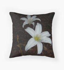 Atamasca Lilies Throw Pillow