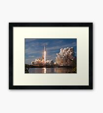 SpaceX Falcon Heavy Liftoff (8K resolution) Framed Print