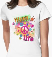 Hippy Life Womens Fitted T-Shirt