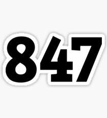 847 Sticker