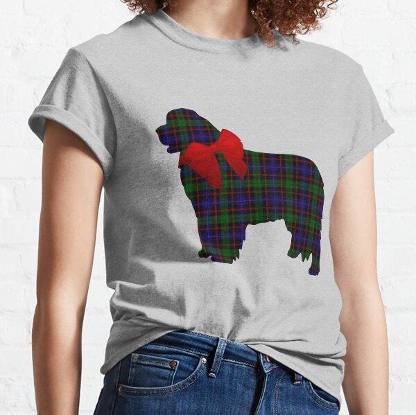 Scottish Newfoundland Dog with Morrison Plaid Classic T-Shirt
