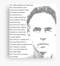 Jordan Peterson 12 Rules for Life Canvas Print