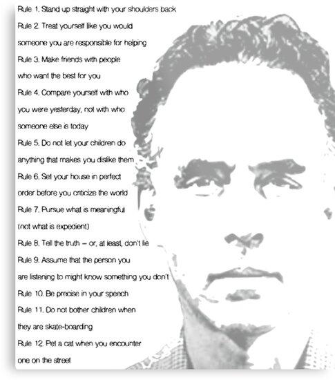 Quot Jordan Peterson 12 Rules For Life Quot Metal Prints By
