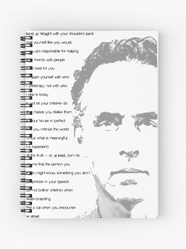 explotar ampliar No complicado  Cuaderno de espiral «Jordan Peterson 12 reglas para la vida» de lauragfarb    Redbubble