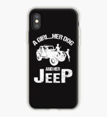 A Girl Her Dog And Her Jeep T-shirt iPhone Case