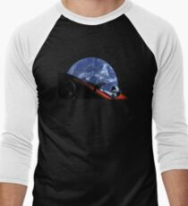 Starman in Tesla Roadster in Space Men's Baseball ¾ T-Shirt
