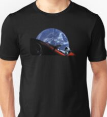 Starman in Tesla Roadster in Space Unisex T-Shirt