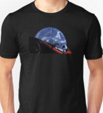 Starman in Tesla Roadster im Weltraum Slim Fit T-Shirt