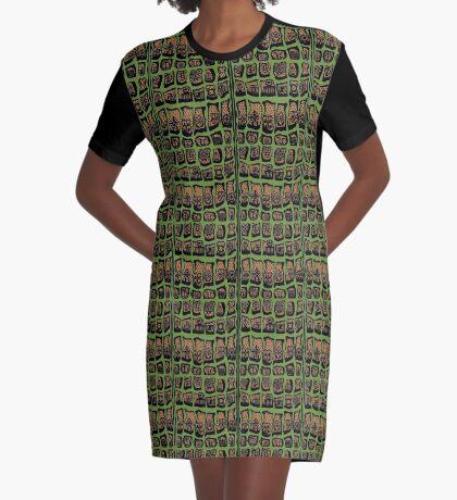 Sage Graphic T-Shirt Dress