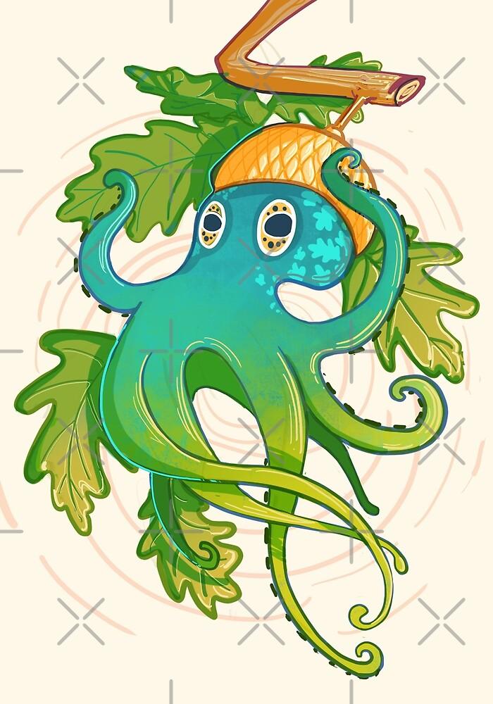 Acorn + Octopus by AshenShop