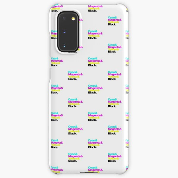 CMYK, Cyan and Magenta and Yellow and Black, pattern Samsung Galaxy Snap Case