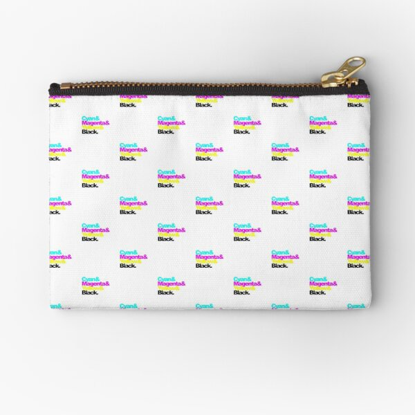 CMYK, Cyan and Magenta and Yellow and Black, pattern Zipper Pouch
