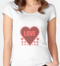Valentine Day Special Heart 8 Women's Fitted Scoop T-Shirt