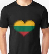 Lithuania Heart Flag Unisex T-Shirt