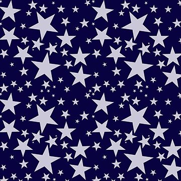 Silver Grey Star Pattern by Greenbaby