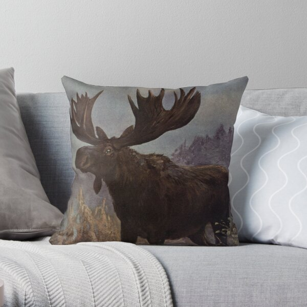 Canadian Moose Pillows Cushions Redbubble
