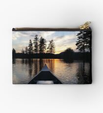Sunset on a lake Studio Pouch