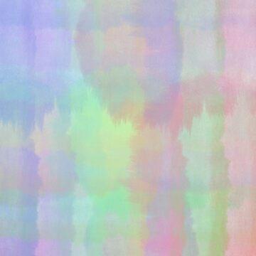Abstract Rainbow Watercolor by elledeegee