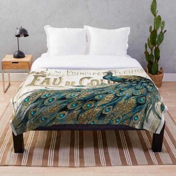 Peacock Jewels Throw Blanket