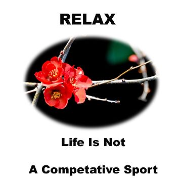Relax - Life Is Not A Competitive Sport by BWBConcepts