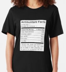 Accountant Facts | Funny Accounting Slim Fit T-Shirt