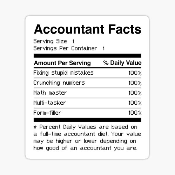 Accountant Facts | Funny Accounting Sticker
