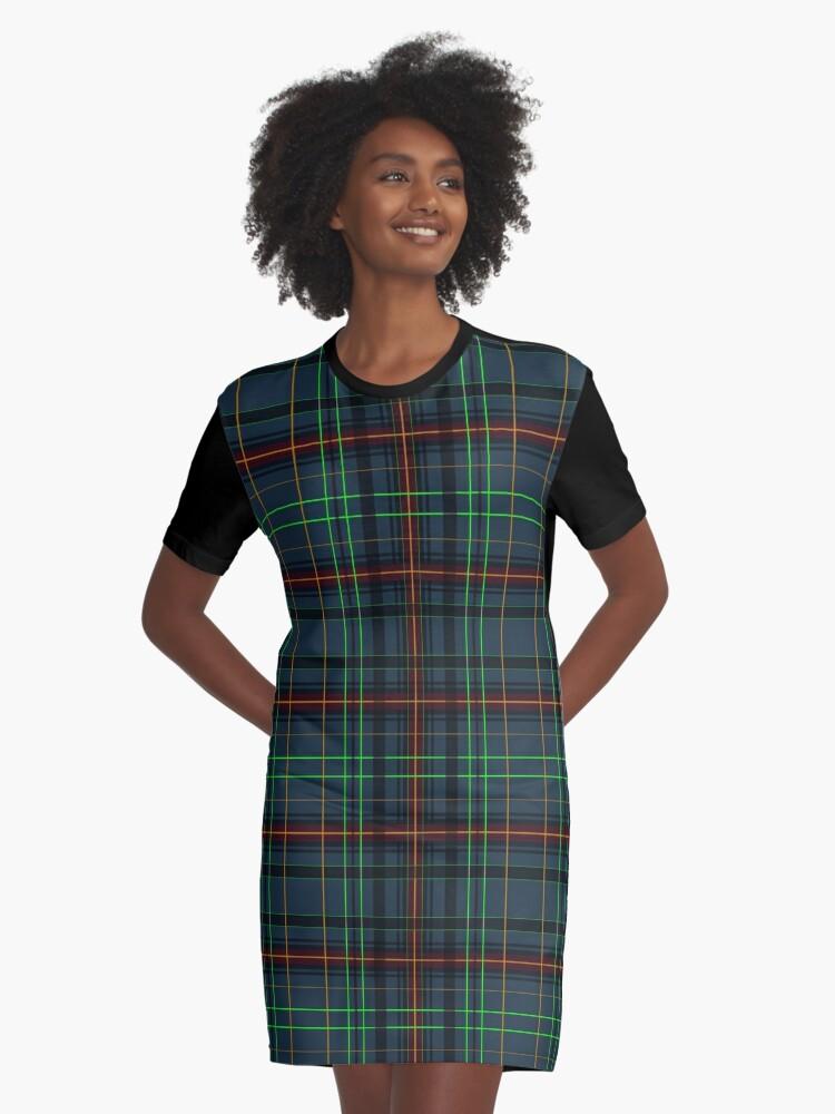 'Tartan in blau, orange, grüne...' T-Shirt Kleid by pASob-dESIGN