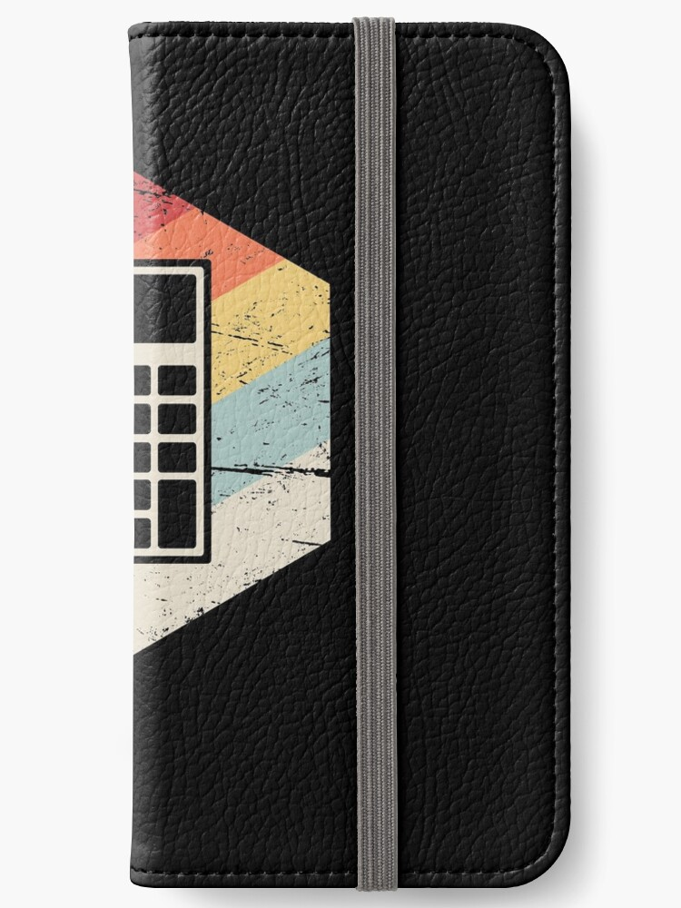 'Retro Calculator | Accountant' iPhone Wallet by Nathan Darks