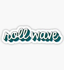 Roll Wave Retro Sticker