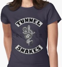 Tunnel Snakes Rule - Biker Jacket Style Women's Fitted T-Shirt