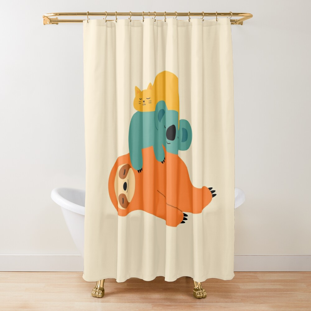 Being Lazy Shower Curtain