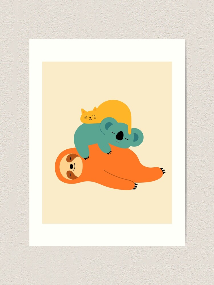 Alternate view of Being Lazy Art Print