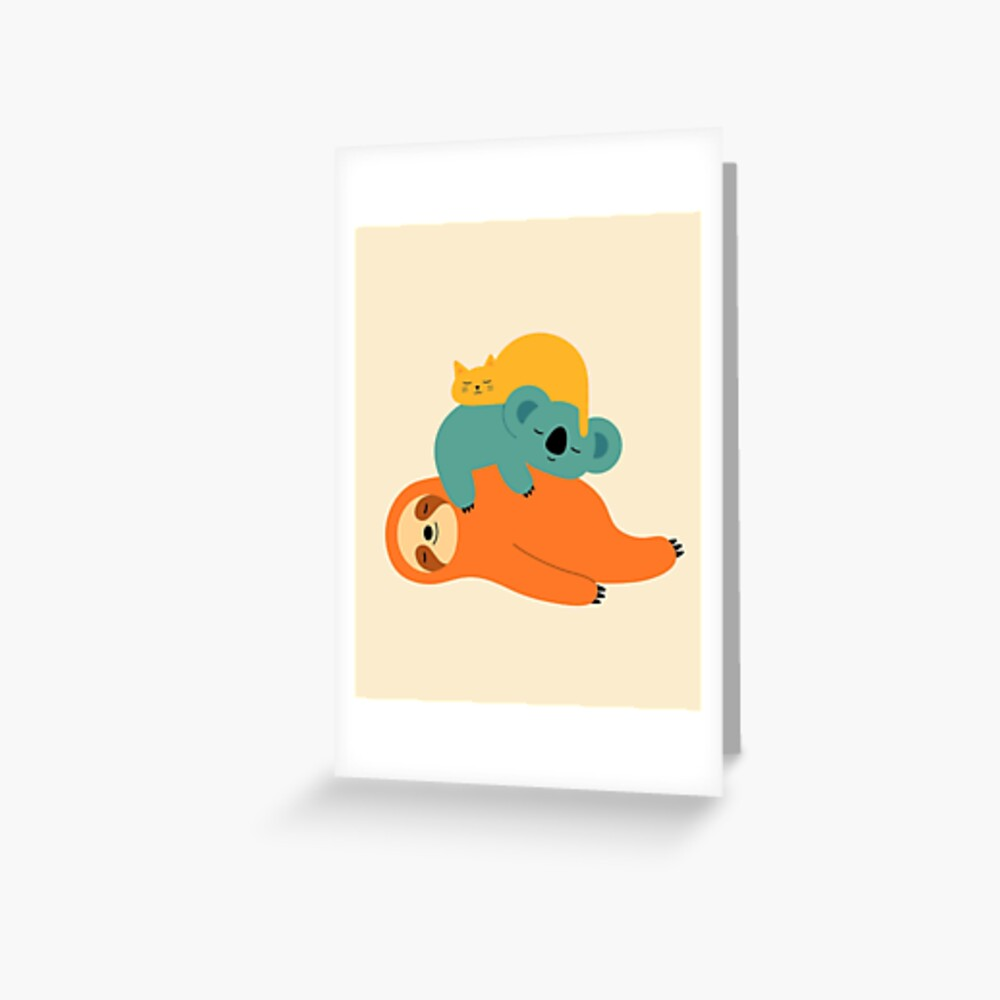Being Lazy Greeting Card