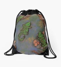 Salamander Party Drawstring Bag