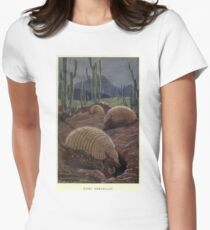 Vintage Armadillo Painting (1909) Women's Fitted T-Shirt