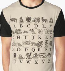 Sea Monster Alphabet Graphic T-Shirt