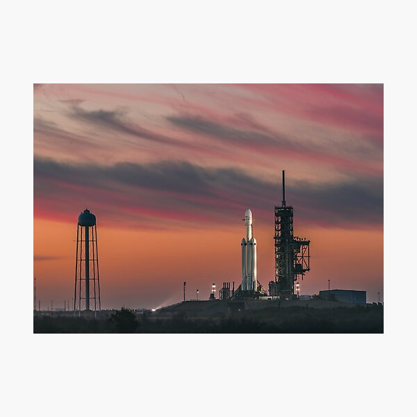 SpaceX Falcon Heavy on the Launch Pad (8K resolution) Photographic Print