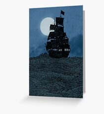 Sailing Under The Moon Greeting Card