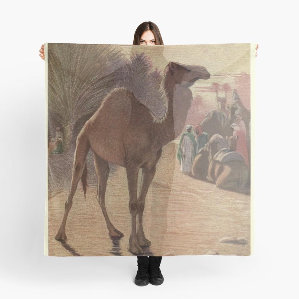 Vintage Camel Painting (1909) Scarf