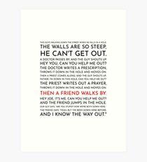 Lámina artística Guy cae en un agujero - Discurso de Leo McGarry