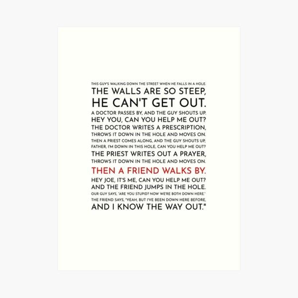 Guy Falls Into a Hole - Leo McGarry's Speech Art Print